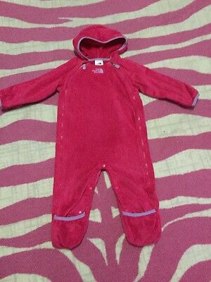 🌸Baby Girl The North Face Fleece Bunting One Piece Jacket Sz 12-18 Mths🌸