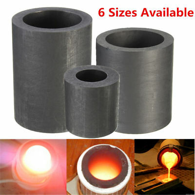 6 Size Pure Graphite Crucible Cup Propane Torch Melting Gold Silver Copper P&T