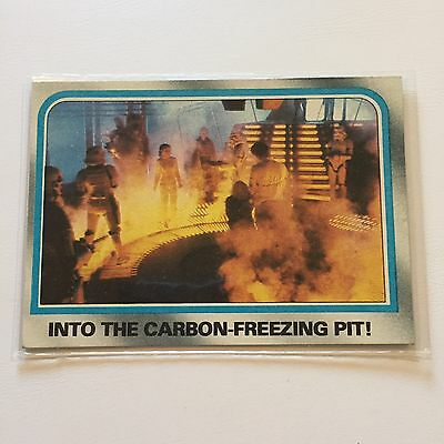 1980 Star Wars The Empire Strikes Back Lucasfilm Card #203 Carbon Freezing Pit
