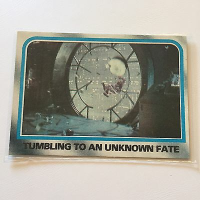 1980 Star Wars The Empire Strikes Back Lucasfilm Card #222 Tumbling Unknown Fate