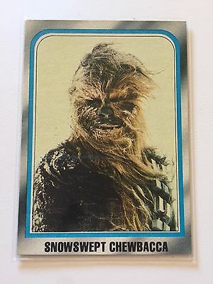 1980 Star Wars The Empire Strikes Back Lucasfilm Card #238 Snowswept Chewbacca