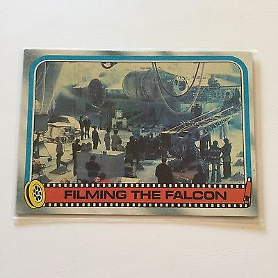 1980 Star Wars The Empire Strikes Back Lucasfilm Card #253 Filming The Falcon