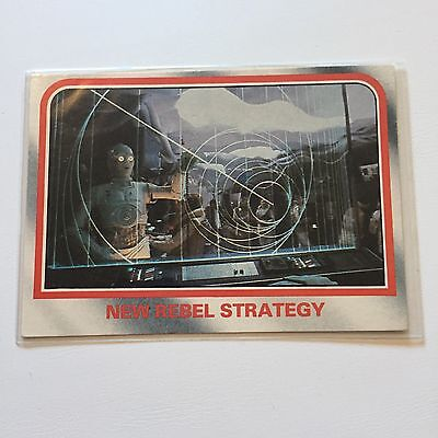 1980 Scanlens Star Wars The Empire Strikes Back Card #17 New Rebel Strategy