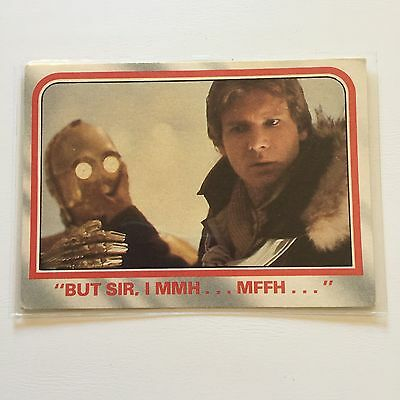 1980 Scanlens Star Wars The Empire Strikes Back Card #22 But Sir I Mmm... Mffh..