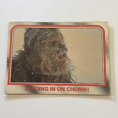 1980 Scanlens Star Wars The Empire Strikes Back Card #31 Zeroing In On Chewie