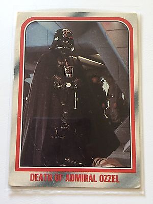 1980 Scanlens Star Wars The Empire Strikes Back Card #34 Death Of Admiral Ozzel