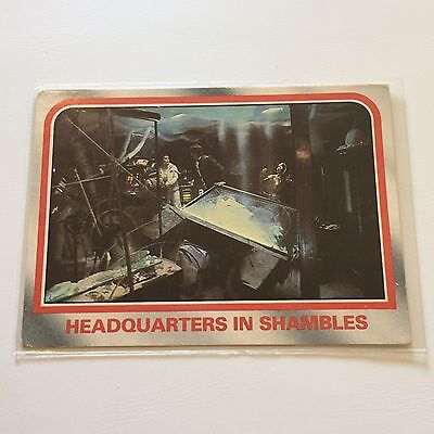 1980 Scanlens Star Wars The Empire Strikes Back Card #47 Headquarters In Shamble