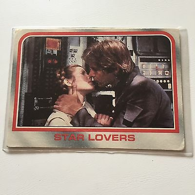 1980 Scanlens Star Wars The Empire Strikes Back Card #66 Star Lovers