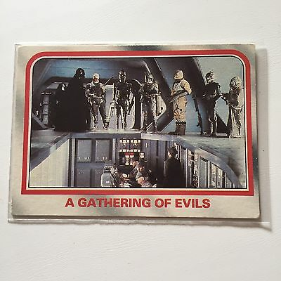 1980 Scanlens Star Wars The Empire Strikes Back Card #73 A Gathering Of Evils