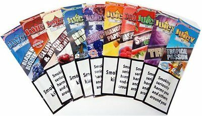 5 x Variety Packs Juicy Jays Flavored Double Wraps Rolling Paper