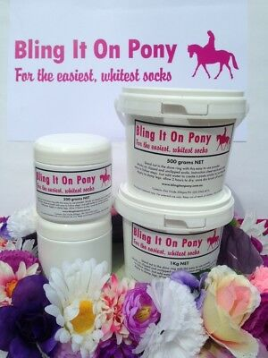 Bling It On Pony Sock Whitener Show Preparation