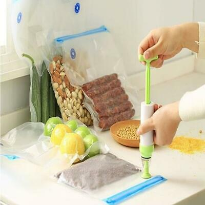 Kitchen Healthy Food Saver Vacuum Bag Sealer Storage Packing Reusable Pouch LA