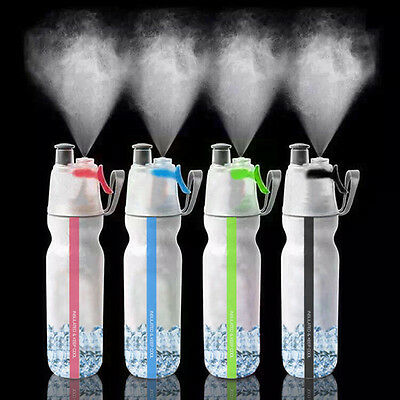 Ice Cool Sport Spray Water Bottle for Outdoor Hiking Cycling Gym Drinking 500ml