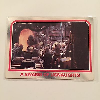 1980 Scanlens Star Wars The Empire Strikes Back Card #82 A Swarm Of Ugnauts