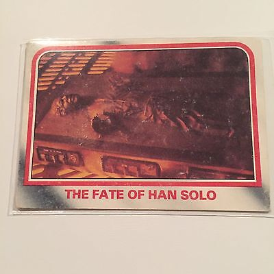 1980 Scanlens Star Wars The Empire Strikes Back Card #97 Fate Of Han Solo