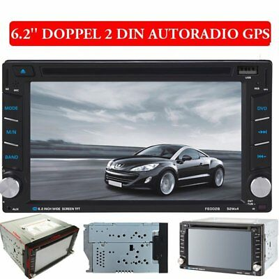Autoradio 2 Din Doppel Mit Gps Navi Bluetooth Touchscreen Dvd Cd Usb Sd Mp3 Map