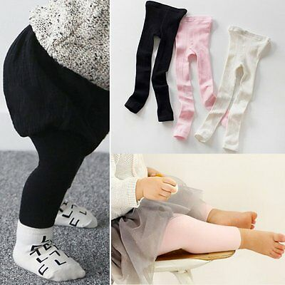 AU Children Baby Toddler Girls Cotton Leggings Jeggings Trousers Socks PP Pant