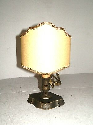 Table lamp LAMPSHADE brass burnished with fan in parchment