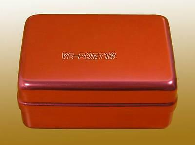 180 Holes Dental bur Holder Autoclave Disinfection Box New Red US Shipping