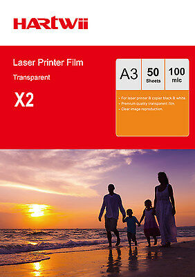 100 Sheets Overhead Projector Film OHP Film  Acetate A3 For  Laser Copier AU