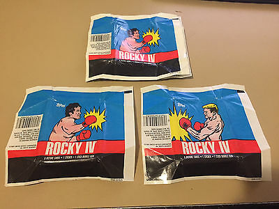 Rocky IV  - 10x Wax Pack Card Wrapper LOT - 1985 TOPPS - NO TEARS !