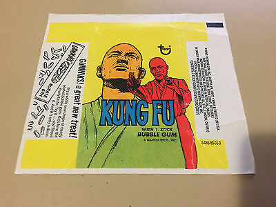 Kung Fu - 1x Card Wax Wrapper -  1973 TOPPS - SEE PIC ACTUAL WRAPPER POSTED #3