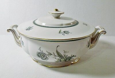 Royal Bayreuth TEAL TULIP Round Covered Vegetable Bowl MINT