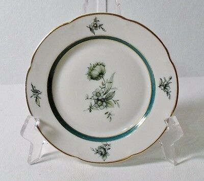 "4 Royal Bayreuth TEAL TULIP 6"" Bread & Butter Plates EXCELLENT"