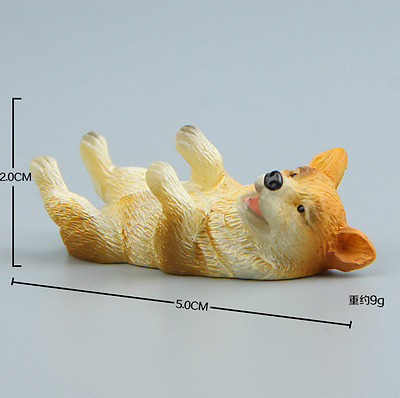 cartoon lovely 3d welsh corgi dog shiba inu model figure fridge magnets gift toy
