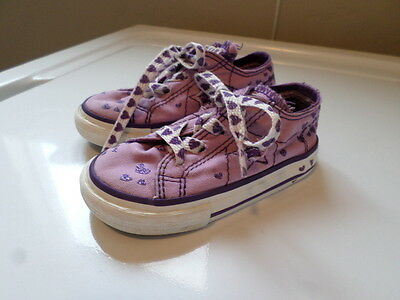 Converse One Star Purple Heart Lace Up Sneakers. Size Infant Girl's 5