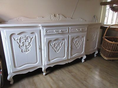 shabby sideboard kommode chippendale gro wei eur 125 00 picclick de. Black Bedroom Furniture Sets. Home Design Ideas