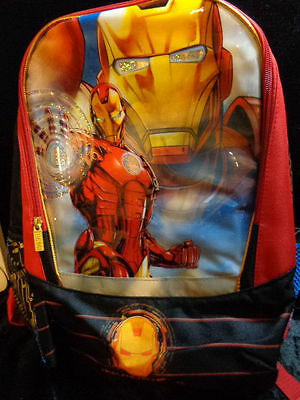"""MARVEL Avengers IRONMAN Invincible 16"""" Backpack Brand New w/ Tags Licensed MINT"""