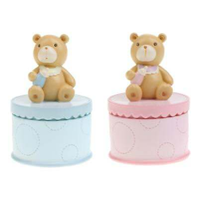 Cute Resin Bear Trinket Box Baby First Tooth / Curl Keepsake Gift Nursery Decor