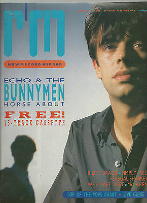 Record Mirror 5 Oct 1985 - Echo & The Bunnymen - Wet Wet Wet - Simply Red