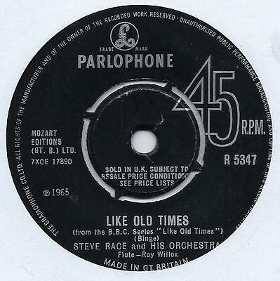 "Steve Race - Like Old Times - 7"" Single"