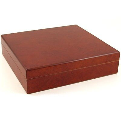 Orleans Group - Burl Non-glasstop Cigar Humidor 20CT - C-15BU