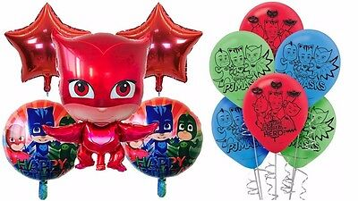 Pj Masks Printed Foil / Latex  Balloons Party Bundle Birthday Decorations.