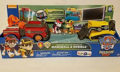 Paw Patrol Mission Paw Rescue Vehicles Marshall & Rubble Exclusive. Spin Master