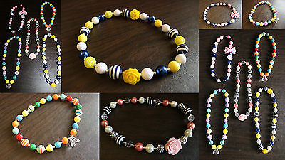 Baby Girl Child Jumbo Gumball Bubblegum Bead NECKLACE Jewel Trendy Chunky Teen
