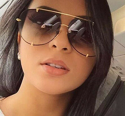 Talon Oversized Women Men Retro Vintage Metal Bar AVIATOR Designer Sunglasses