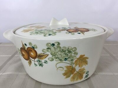 Covered Casserole Dish Informal China by Iroquois Ben Seibel Old Orchard Oven