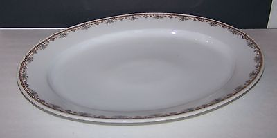"Vtg Royal Bayreuth Bavaria Oval Serving Platter 16"" Flower Border Decor"