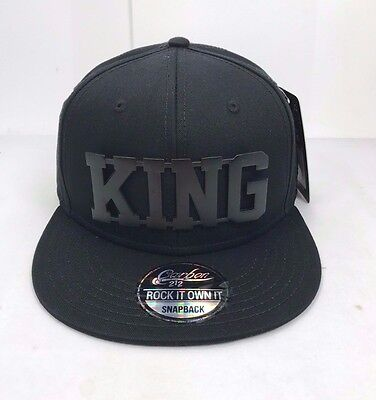New King Snapback Cap Baseball Hip Hop Era Fitted Flat Peak Hat
