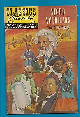 Classics Illustrated Comic 1969  Negro Americans early years  48 pages RARE #890