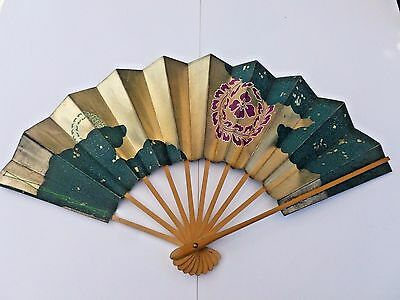 (3) Vintage Japanese Geisha Fans As Found in Boxes