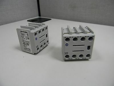 Lot Of 2 Allen Bradley 100-F Series B Auxiliary Contact Blocks Used