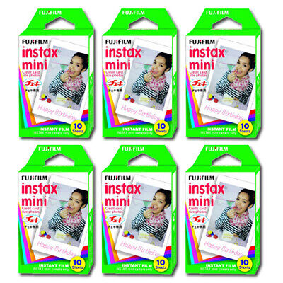 Fuji Instax Instant Film 10 Sheets x 6 packs 60 Sheets (In Non-retail Packaging)