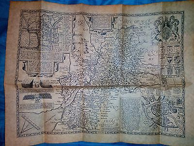 Old map of Gloucestershire 1610 Reproduction old map