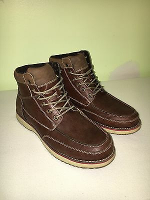7a1a9ac12e7 MENS BOOTS SONOMA Size 11 Brown Leather Modern Stylish Rarely Used ...
