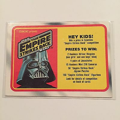 1980 Scanlens Star Wars The Empire Strikes Back Card 131